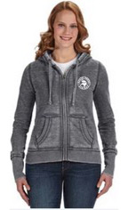 Woman wearing Glen Head hoodie